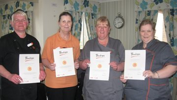 Stirling care home team awarded for dedication and kindness