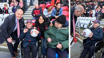 Newton Aycliffe care home makes football fan's wish comes true
