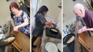 Pancake Day from Rosebridge care home