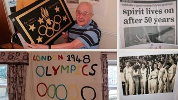 Surprise party for former Swansea Olympic gymnast