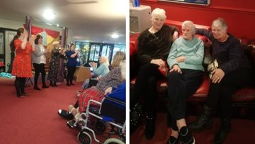 The sound of music at Bolton care home
