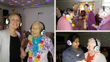 Glasgow care home Residents enjoy silent disco