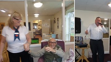 New entertainer has Residents singing and dancing the afternoon away