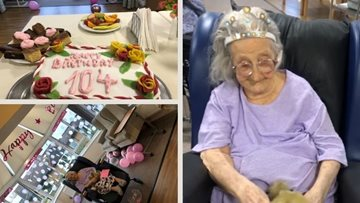 104th Birthday Party for St Christophers Resident