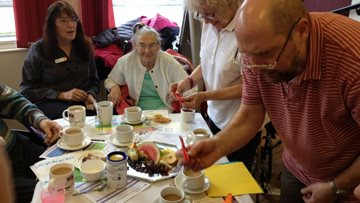 Daneside Court Residents celebrate at wellbeing party