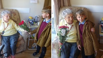 91-year-old Resident's emotional visit from 7-year-old 'best friend'