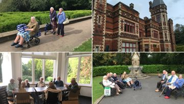 Residents enjoy a sunny visit to Saltwell Park