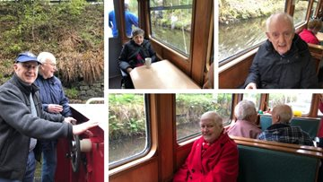 Falkirk care home Residents sail along union canal