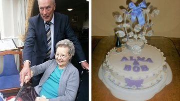 Childhood sweethearts celebrate diamond wedding anniversary at Bradford care home