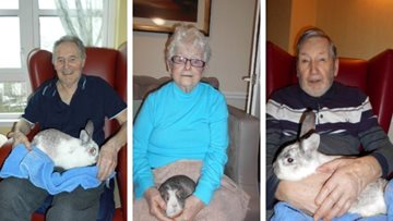 Fluffy friends at Ayr care home