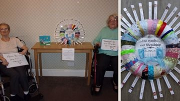 Grimsby care home sends wreath to pen pals in France