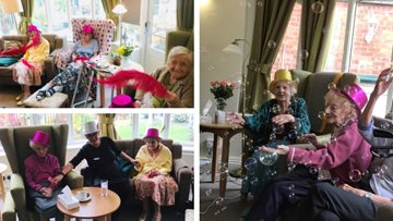 VE Day celebrations at Broadway care home