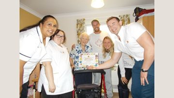Great Easton care home Resident receives recognition for gardening skills
