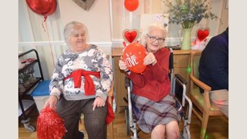 Love is in the air at Hayes care home
