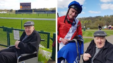 Dream comes true for Carlton care home Resident at Nottingham Races