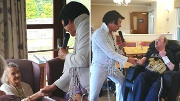 Resident spends 91st birthday being serenaded by Elvis