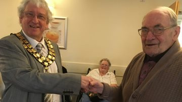 Chairman visits Easter parade at Burntwood care home