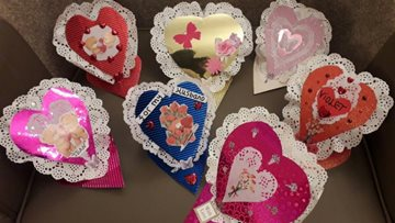 Valentines Crafts at Clarendon Hall