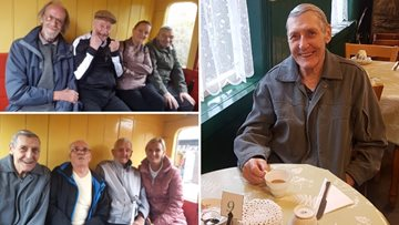 Residents enjoys men's day out to Tanfield Railway