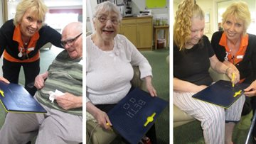 Residents test out new activities at Cramlington care home