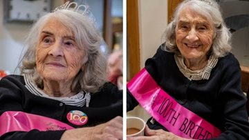 Big 100th birthday for Resident at Huddersfield care home