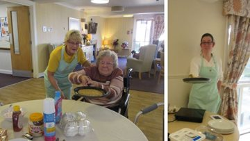 Flipping good fun at Dundee care home