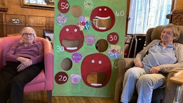Surrey care home celebrate Red Nose Day