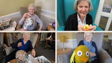 Easter arts and crafts at Ayr care home