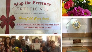 Uxbridge care home receives 365 days pressure ulcer free award