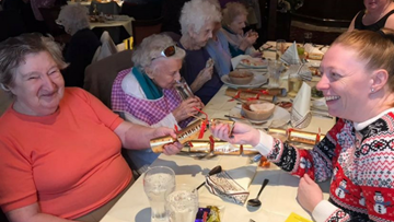 Residents Enjoy Festive Lunch at Ash Tree Farm