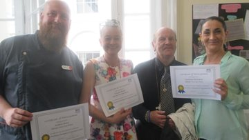 Paisley care home team members become Nutrition Champions