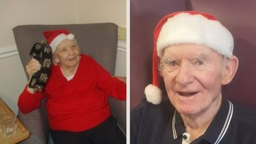 Festive cheer brings joy to Glasgow care home Residents