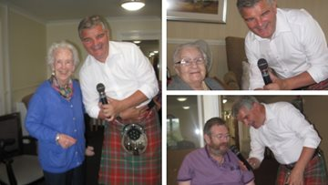 Stirling care home is alive with the sound of music