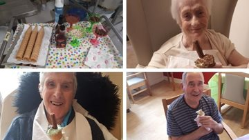 All the fun of the beach at Sheffield care home