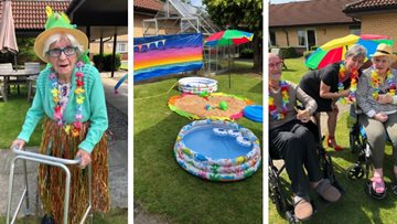 Glasgow care home hosts summer beach party