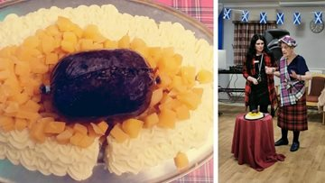 Burns Night celebrations at Glasgow care home