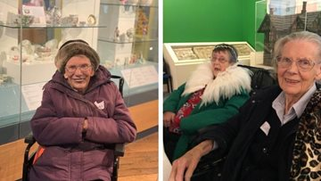 Barnard Castle care home Residents enjoy arts and crafts at Bowes Museum