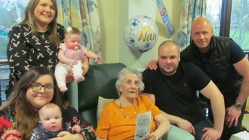 Resident at Waterside Care Home celebrates 90th birthday