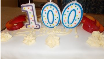 100 birthday candles for Bexhill care home Resident