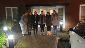 Consett care home team members help the homeless