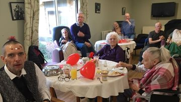 Love is in the air at Basildon care home