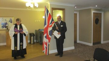 Guisborough care home Residents commemorate Armistice Day