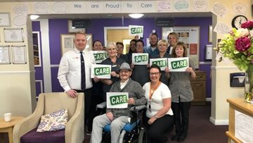 Glasgow care home celebrates Proud to Care week