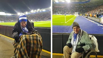 Care home Residents attend tribute Leicester City match