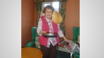 Laughter all around for Roseberry Court on Shrove Tuesday