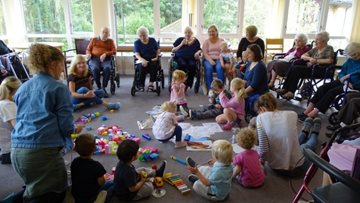 Intergenerational group visits at Linlithgow care home