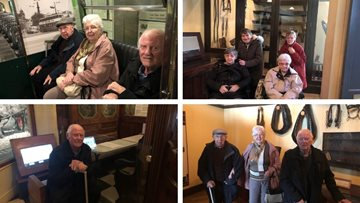 Falkirk care home Residents visit Glasgow transport museum