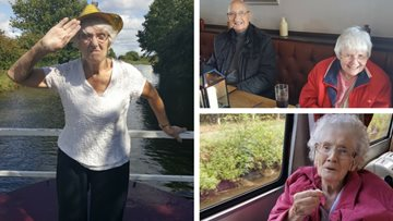 Worsley care home Residents sail away on canal trip