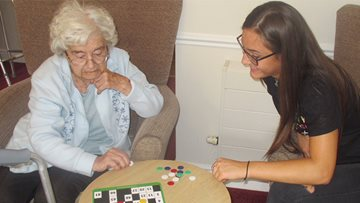 Old meets young at HC-One care home
