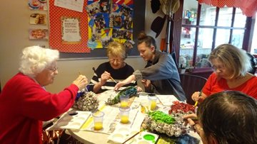 Huddersfield care home gets crafty as Residents prepare for Harvest Festival